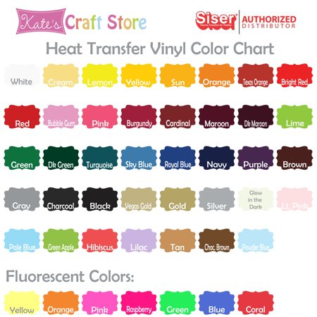Kate S Craft 3 Sheets Of 12 X 15 Siser Easyweed Heat Transfer Vinyl 45 Colors Available
