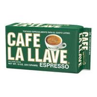 Cafe La Llave Espresso, Ground Coffee, Dark Roast 10 oz