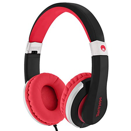 RockPapa I22 Foldable Adjustable On Ear Headphones with Microphone for Kids/Adults iPhone iPad iPod Tablets MP3/4 DVD (Headphones 4 Ipod Nano)