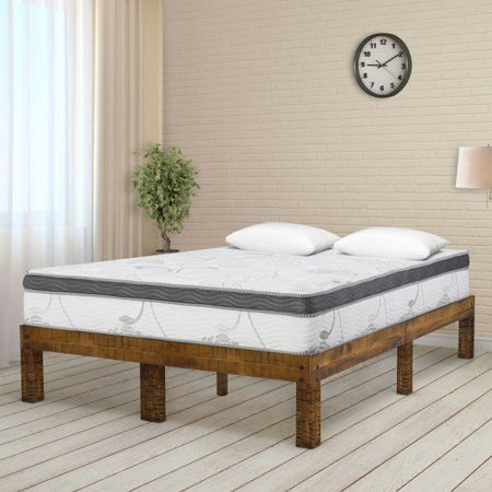 Barrel Full Bed Block (GranRest 14 Inch Solid Wood Platform Bed, Natural, Full)