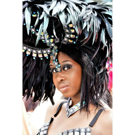 Canvas Print Headgear Costume Festival Carnival Notting Hill Stretched Canvas 32 x 24