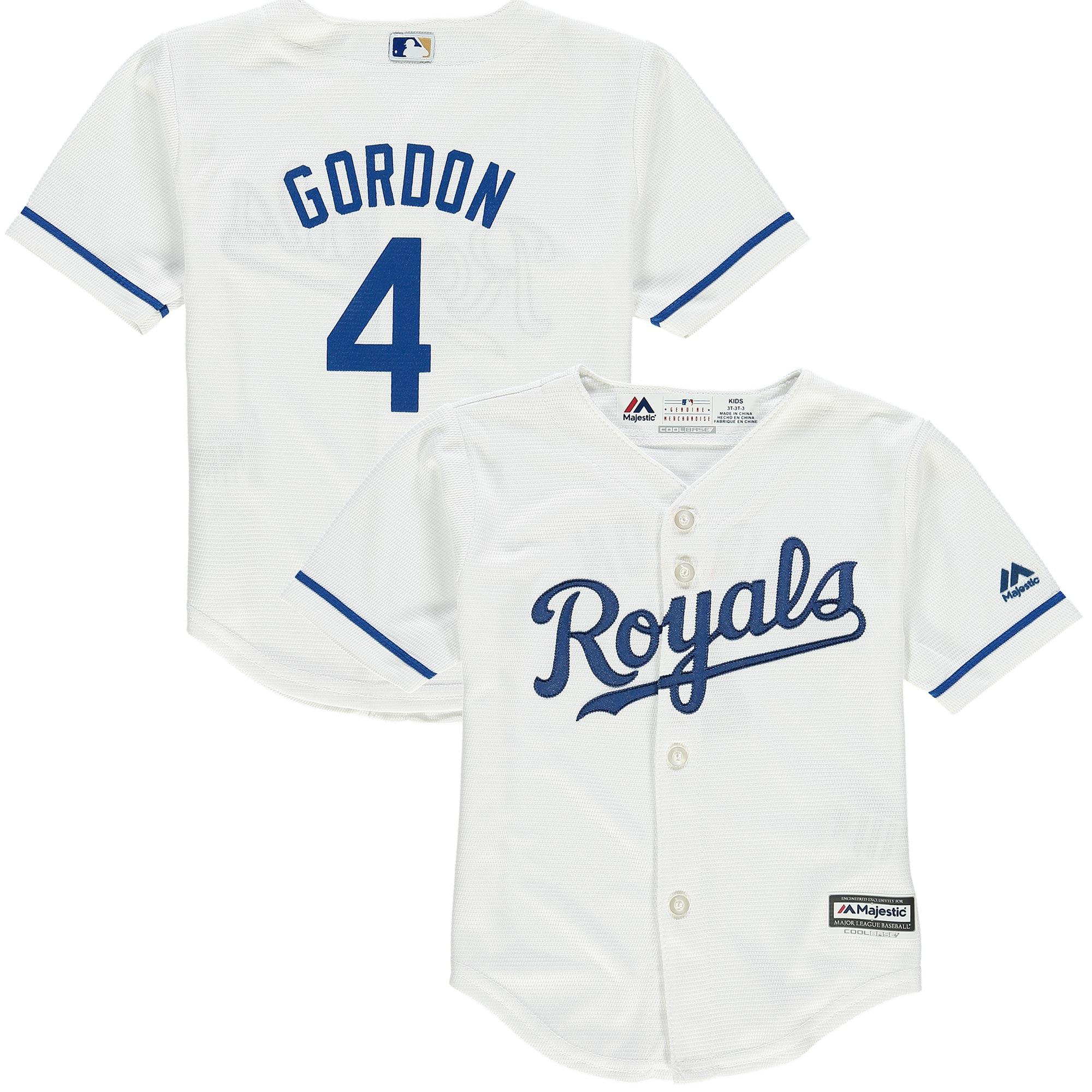 Alex Gordon Kansas City Royals Majestic Toddler Official Player Cool Base Jersey - White