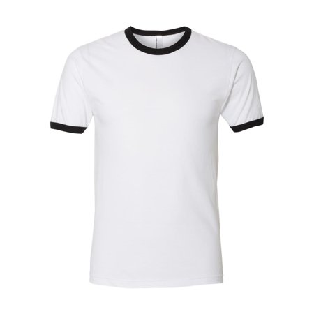 American Apparel T-Shirts Fine Jersey Ringer T-Shirt 2410W