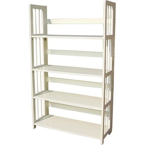 4 tier folding bookcase white walmart