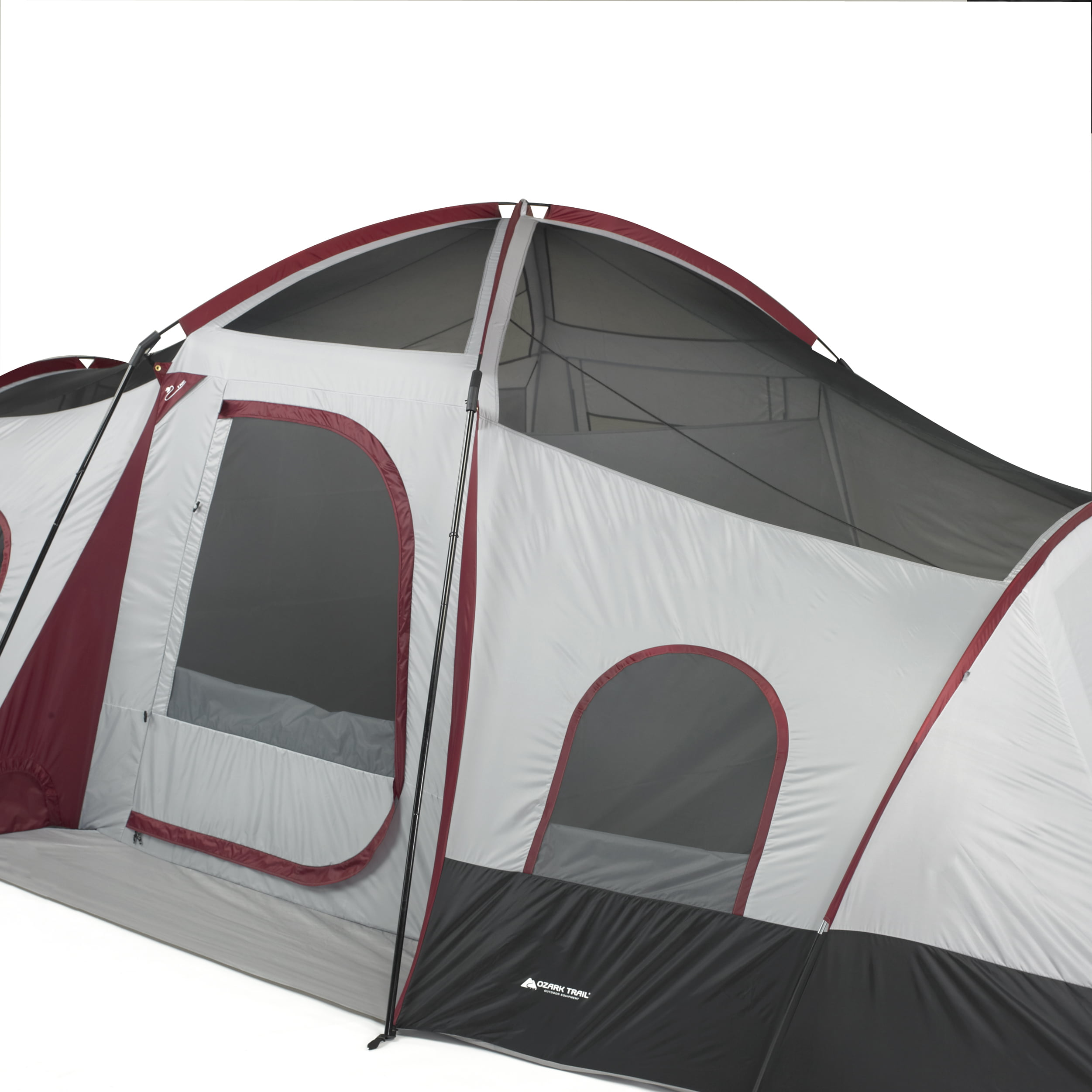 10 Person 3 Room Cabin Tent with Side Entrances Camping ...