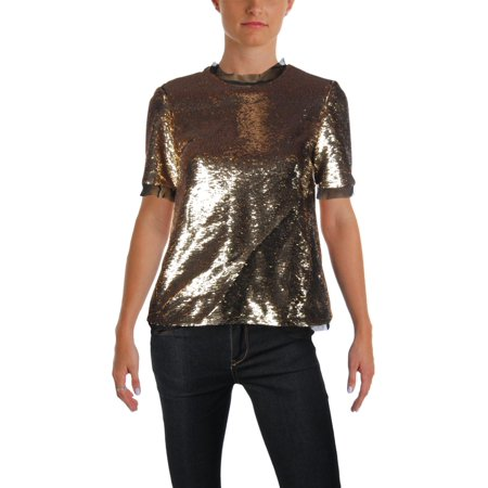 Rachel Zoe Womens Paillettes Short Sleeves Dress - Zoe Ltd Dress