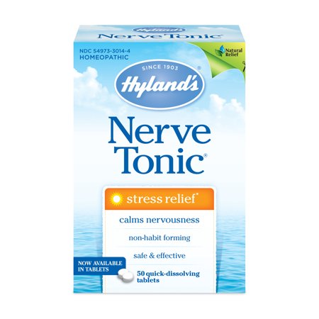 Grandads Nerve Tonic - Hyland's Nerve Tonic Stress Relief Tablets, Natural Relief of Stress, 50 count