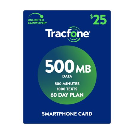 TracFone $25 Smartphone 500 MB Plan (Email Delivery) (Tracfone Airtime Cards)