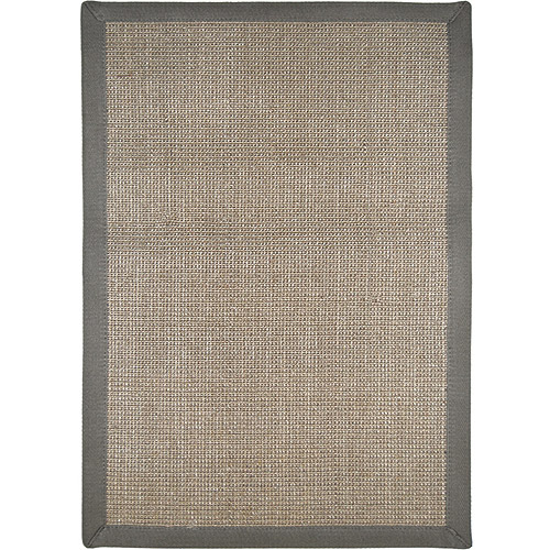 Natural Sisal Area Rug with Rubber Dot Backing