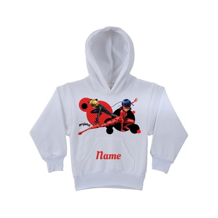 Personalized Miraculous Ladybug and Cat Noir White Youth Hoodie, White