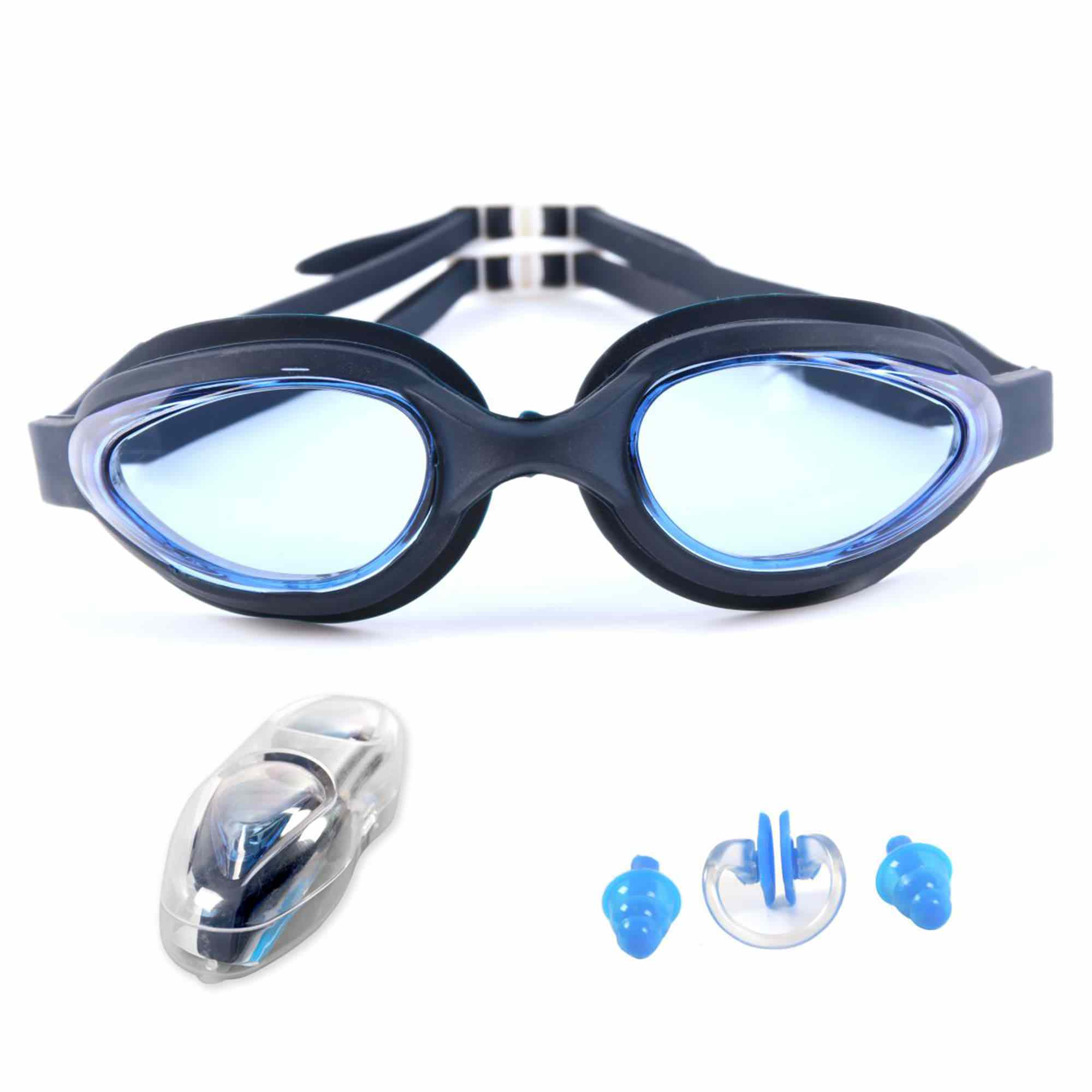 JML Swimming Goggles - No Leaking,Anti- Fog,UV Protection Swim Goggles With Free Protective Case + Nose Clip and Ear Plug - Comfortable Fit For Adult Men And Women