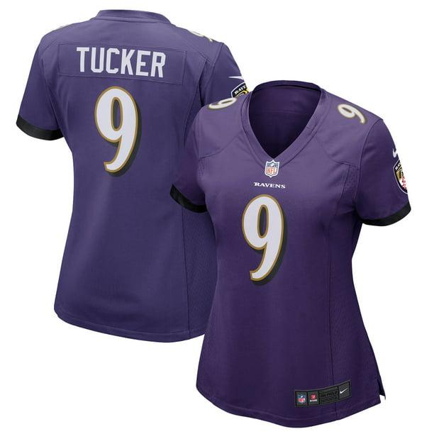 Justin Tucker Baltimore Ravens Nike Women's Game Player Jersey - Purple