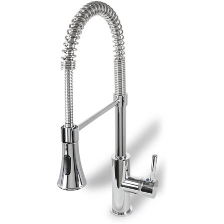 Ultra Faucets UF17200 Chrome Single-Handle Kitchen Faucet with Pull-Down  Spray