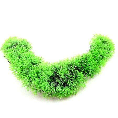 34cm High Artificial Green Twisted Aquatic Plants Ornament for Aquarium