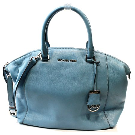 Michael Kors NEW Blue Sky Leather Riley Large Dome Satchel Bag Purse