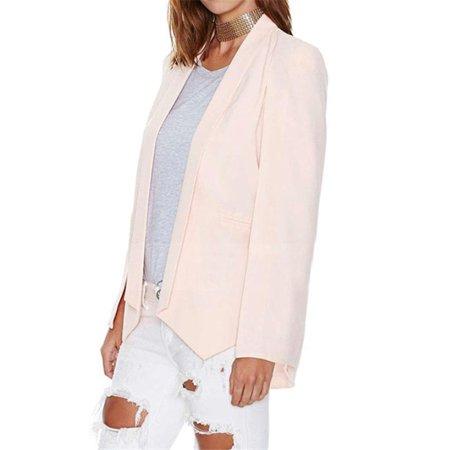 Maraso Women Lapel Long Split Sleeve Pockets Blazer Cape Coat OL Casual Suit Jacket
