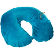 Travel Smart By Conair Ts22teal Inflatable Fleece Neck Rest [teal]