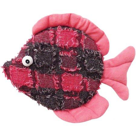"Plush Donna Discus Fish Dog Toy, 10.5"""