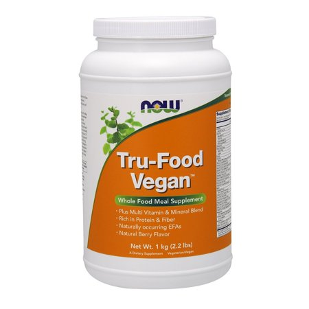 Now Tru Food Vegan Meal Berry  2 2 Pound  This Product Is Easily Mixable In Water By Now Foods