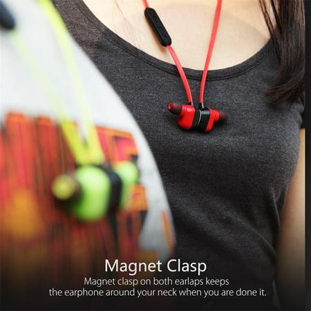 Sport Running Mic Remote Bluetooth Stereo Headphone Smartphone Earphones BlackBlack_Green