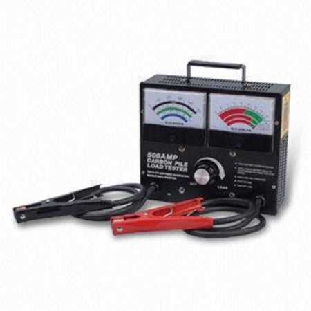 GHP Portable Adjustable Dial Meter 500 Amp Carbon Pile Battery Load (500 Amp Carbon Pile Load)