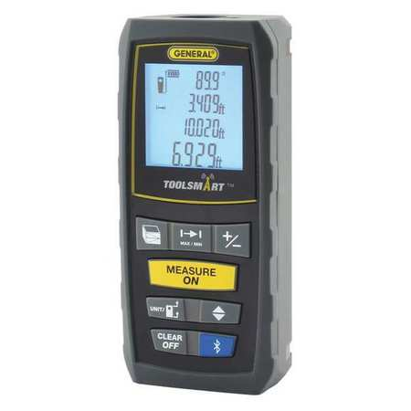 General TS01 Toolsmart Bluetooth Connected 100-Foot Laser Distance Measurer by General Tools