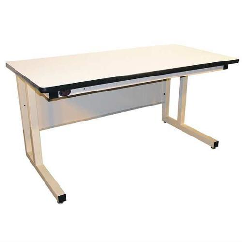 PRO-LINE CHD6030P-H11 Ergo Workbench, Beige, 60Lx30Wx30H In.