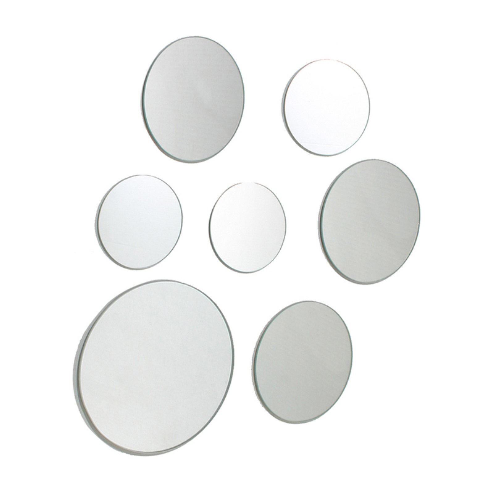 set of 7 round wall mirrors multiple sizes