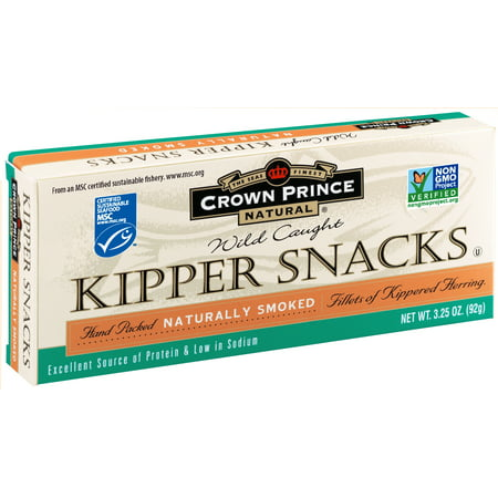 (2 Pack) Crown Prince Natural Kipper Snacks - Low In Sodium, 3.25 oz