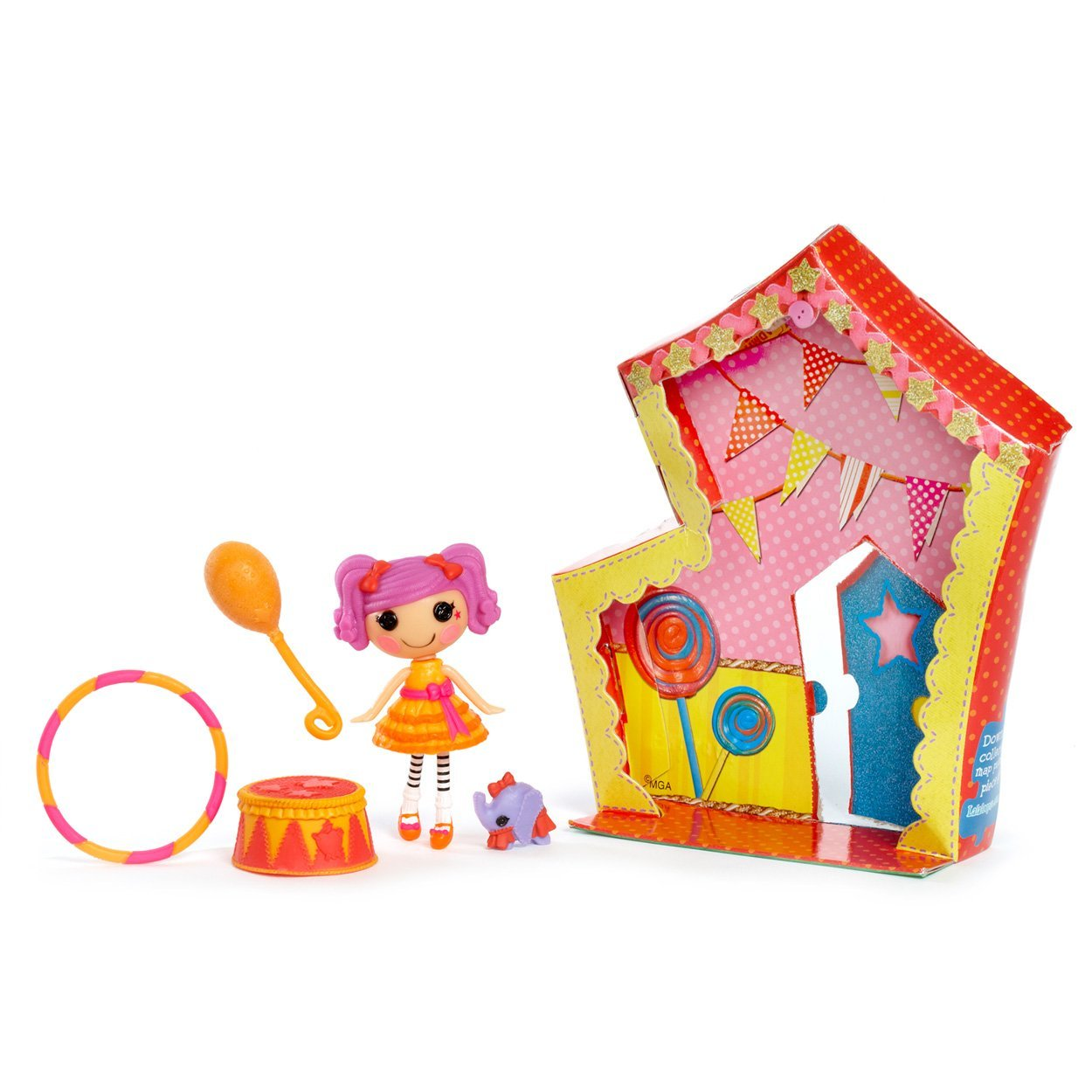 Mini Peanuts Elephant Act, Lalaloopsy Mini Peanuts Elephant Act with accessories. By LALALOOPSY