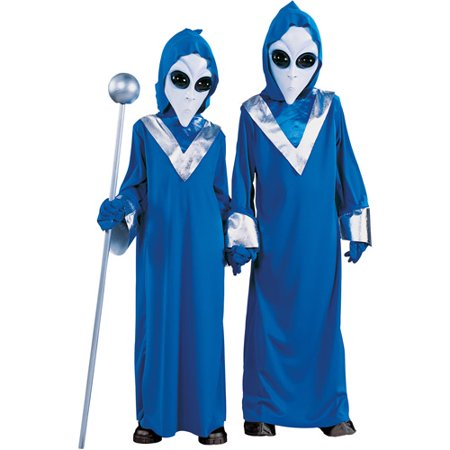 Fun World Complete Alien Child Halloween Costume - Plus Size Alien Costume