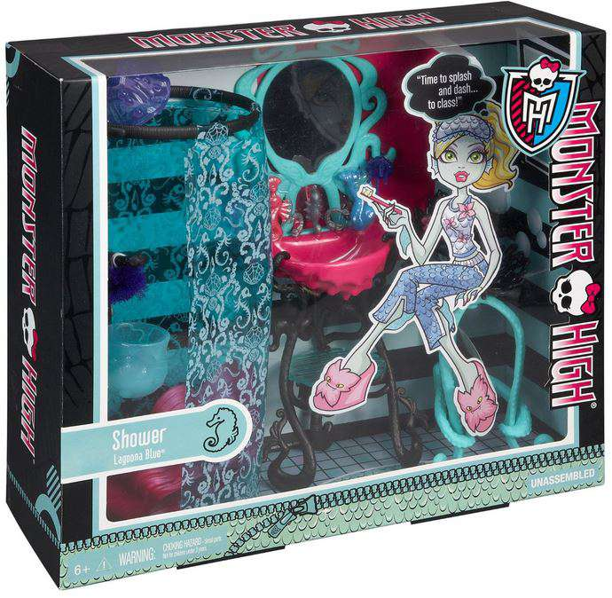 Monster High Accessory Lagoona Blue Shower Play Set
