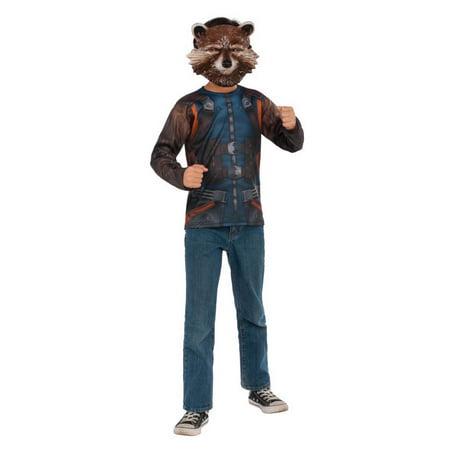 Halloween Rocket Raccoon (Marvel Avengers: Infinity War Rocket Raccoon Mens Long Sleeve Top - Size)