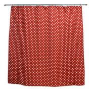 Brite Ideas Living Ikat Dot Red Shower Curtain