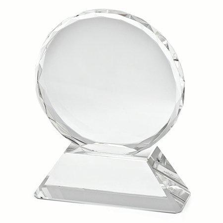 Optical Crystal Large Round Award Inspirational Trophy Office Gifts For Women For - Optical Crystal Award