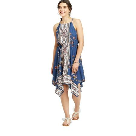 Dress Handkerchief Hem (maurices Border Print Hanky Hem Dress - Women's Sleeveless)