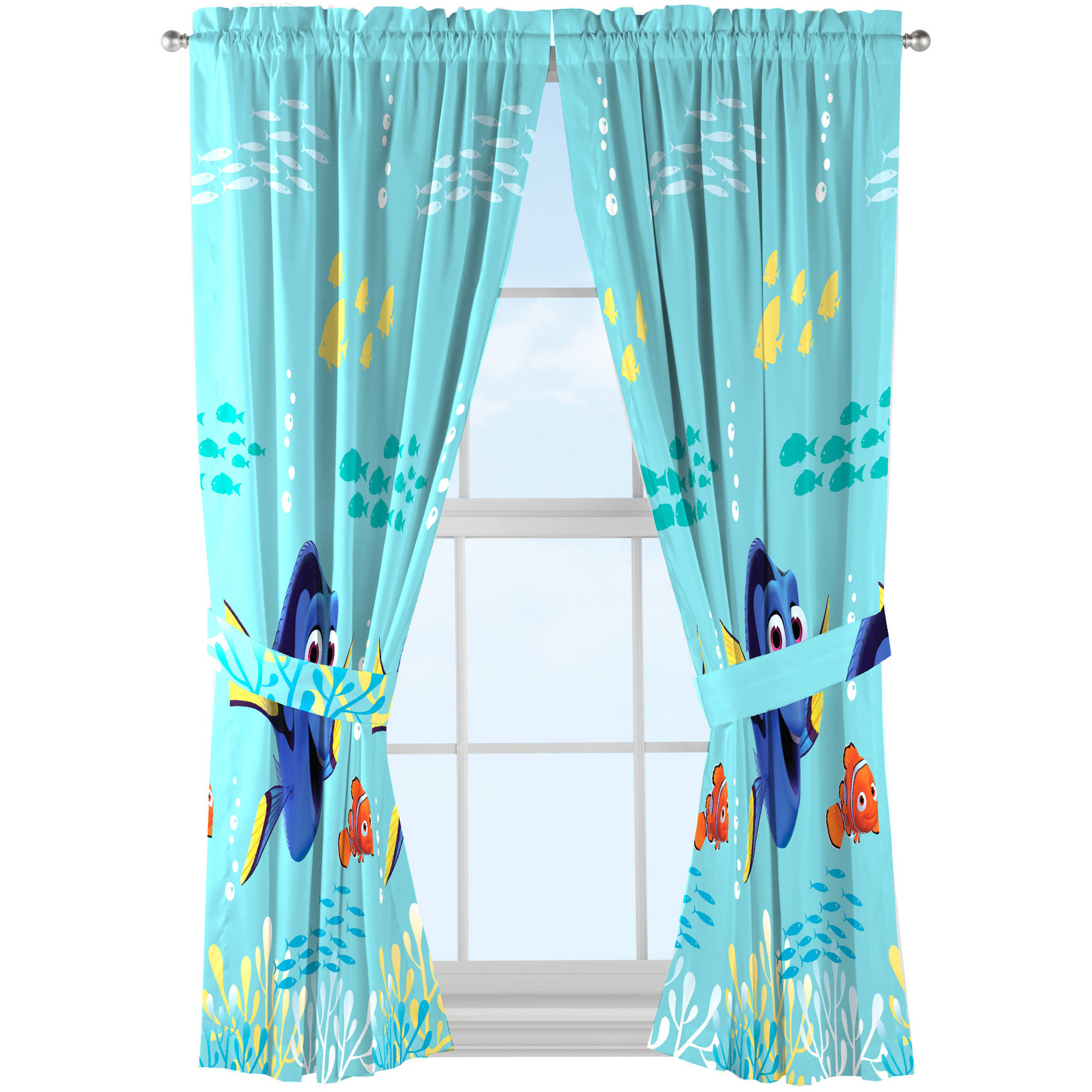 Disney Finding Dory Kids Bedroom Curtains Set of 9 - Walmart.com