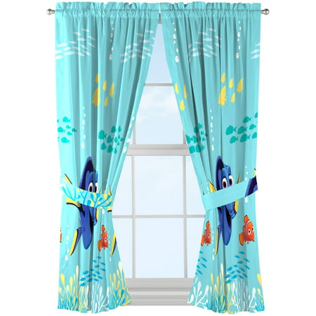 Disney Finding Dory Kids Bedroom Curtain Panels Set