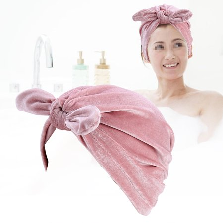 Velvet Turban - Yosoo Hot New Winter Velvet Rabbit Ear Turban Hats Women Soft Velvet Chemo Hat Hair , Noble Hat, Retro Hat