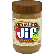 Jif Natural Creamy Peanut Butter Spread, 16-Ounce