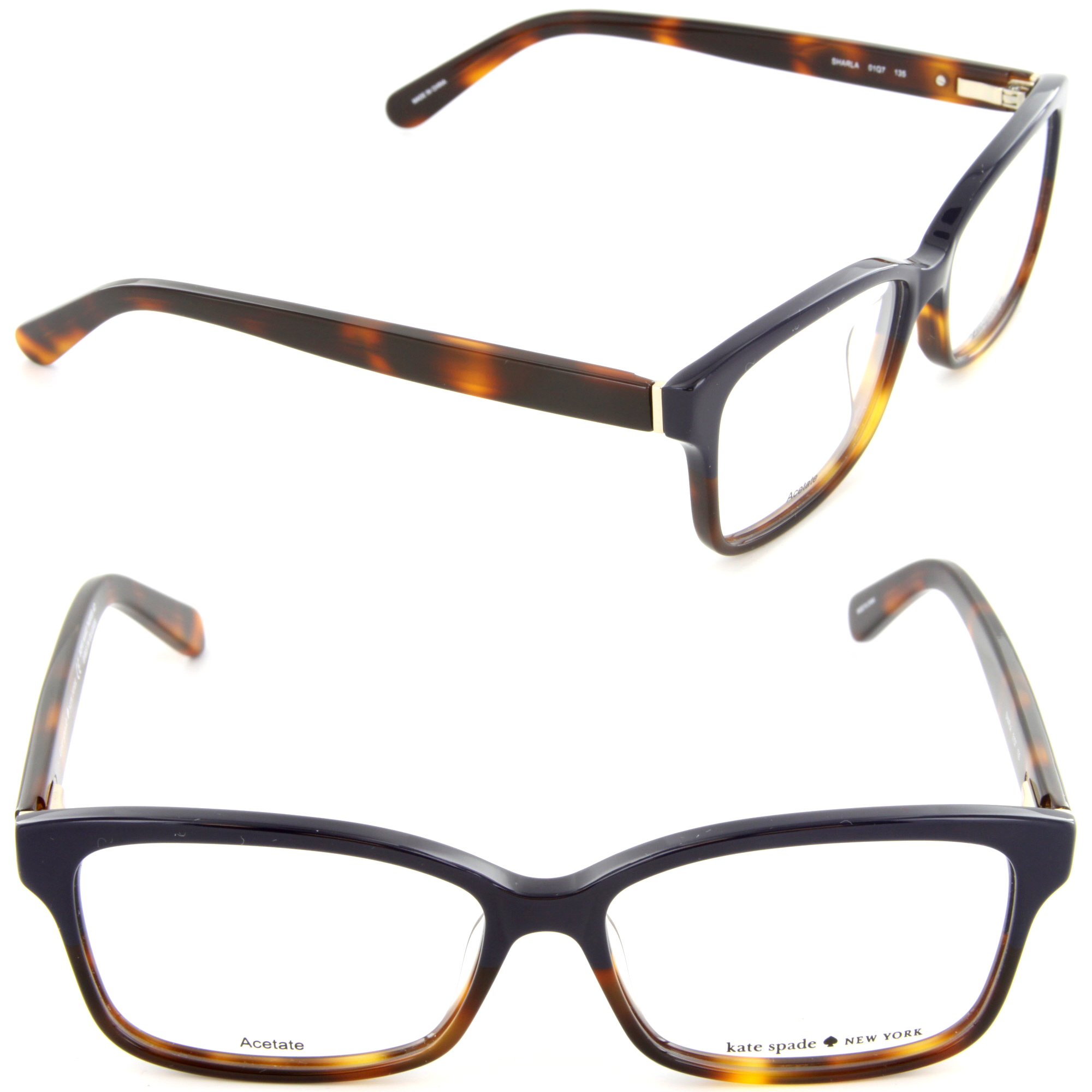 ec8b6421a31 Eyeglasses Kate Spade Sharla 01Q7 Blue Tortoise Fade - Walmart.com