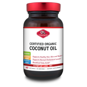 Olympian Labs Certified Organic Coconut Oil Softgels, 60 count