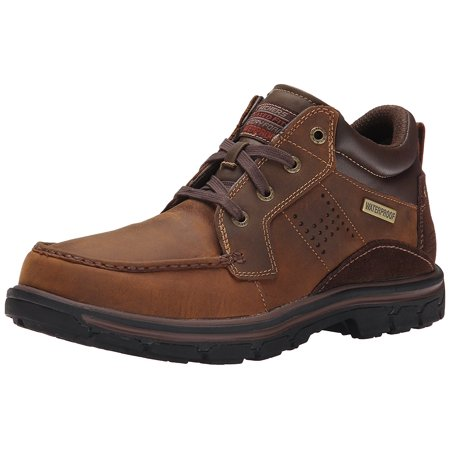 Skechers USA Men's Segment Melego Chukka Boot, Dark Brown, 7 M (Skechers Usa Mens Holdren Brenton Chukka Boot)