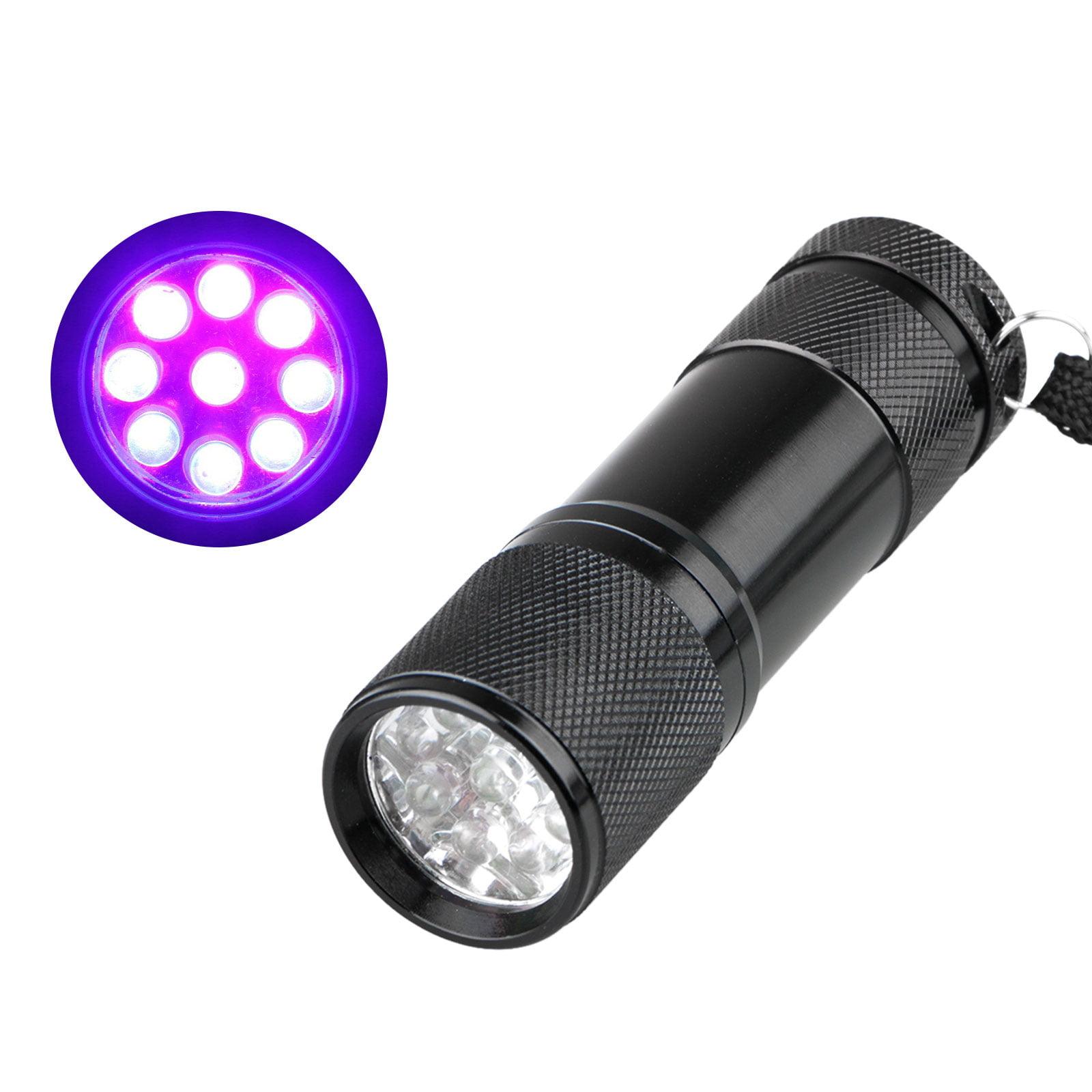 UV Flashlight Black Light, 12 LED 395 nM Ultraviolet Blacklight Detector for Dog Urine, Pet Stains Detector, Bed Bug, Hotel Room Inspection, Hunting Scorpions and Minerals