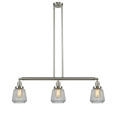Innovations Chatham 3 Light Island Light - Brushed Satin Nickel - (Chatham Satin)