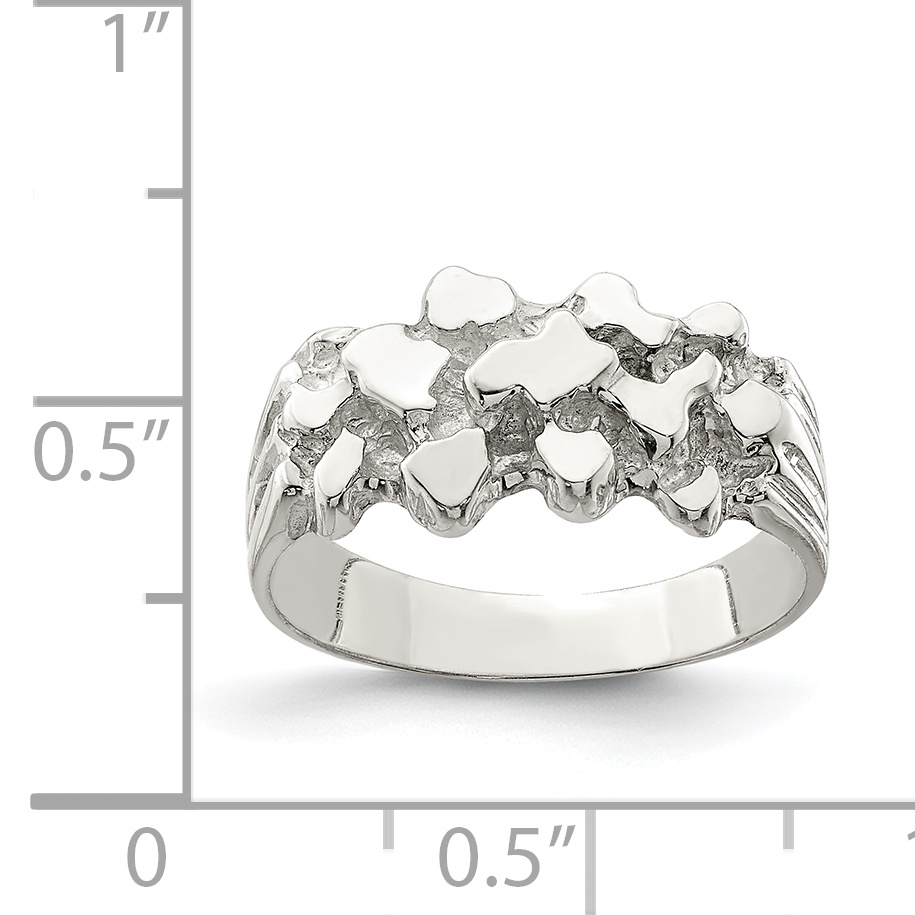 925 Sterling Silver Womans Nugget Band Ring Size 6.00 Man Fine Jewelry Gift For Dad Mens For Him - image 1 of 2