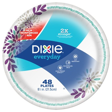 Dixie Everyday Paper Lunch Plates, 8.5u0022, 48 Count