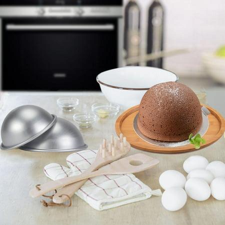 WALFRONT Demi-cercle moule à cake demi-boule en alliage d'aluminium pan, 10cm demi-cercle moule en aluminium hémisphère mousseline gâteau gâteau gâteau dessert dessert pudding cuisson mo - image 1 de 12