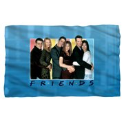 Friends Skyline Fleece Blanket White 48X80