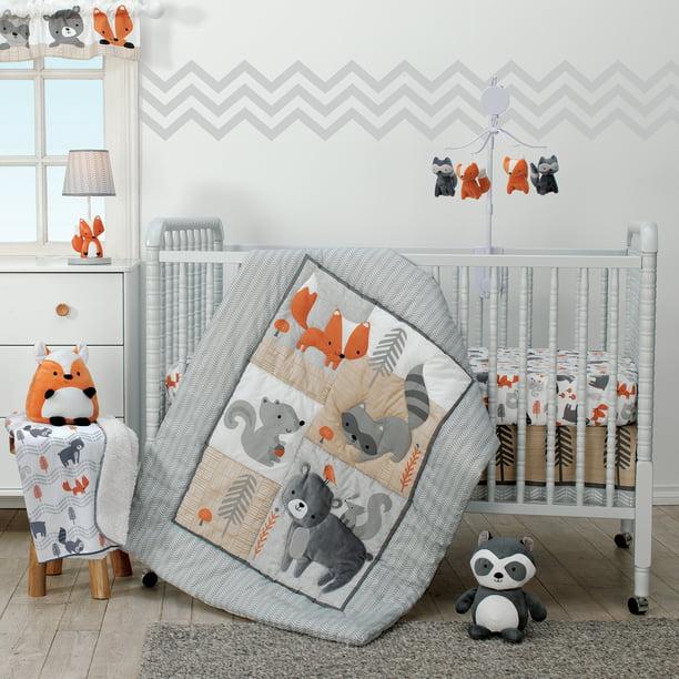 Acorn 3 Piece Crib Bedding Set